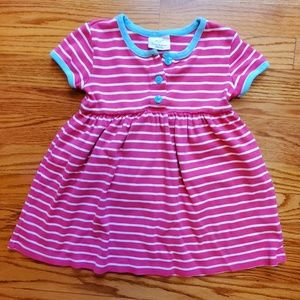Hannah Andersson short sleeve button down dress 3T